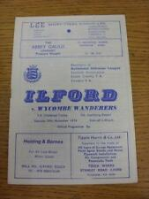 30/11/1974 Ilford v Wycombe Wanderers [FA Trophy] . Item in very good condition,
