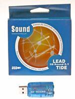 SCHEDA AUDIO 5.1 3D USB ESTERNA 3D SOUND NOTEBOOK JACK 3,5 HOME THEATRE 5.1