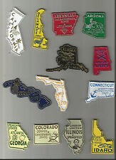 All 50 U.S. STATE MAGNETS RUBBER PLUS WASHINGTON D.C. NEW