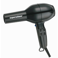 New Super Solano 232 Professional Hair Dryer Black 1875 Watts with Blow Back