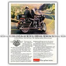 PUB HARLEY DAVIDSON FLT 1340 TOUR GLIDE CLASSIC - Advert / Publicité Moto 1981