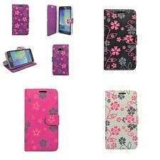 CASE VARIOUS COLOURS FLOWER SWIRL PRINT DESIGN WALLET FOR SAMSUNG GALAXY A3