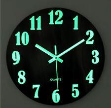 30cm Holz Wanduhr Uhr Küchenuhr Büro Fest Ohne Tickgeräusche Lautlos Leuchtend
