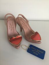Vivienne Westwood Melissa Lady Dragon Heart Shoes Lychee/red Size 4