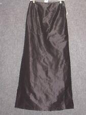 KAY UNGER Black Silk drape Full Length Skirt SZ 4 NEW