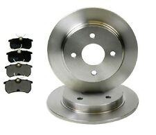 FORD Focus mk1 1998-2004 , 253mm solid  REAR 2 BRAKE DISCS AND 4 PADS SET NEW