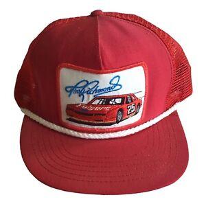 Vintage Tim Richmond Winston Cup Trucker Snapback Hat USA
