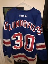 Henrik Lundqvist Signed New York Rangers Reebok Blue Premier Authentic Jersey