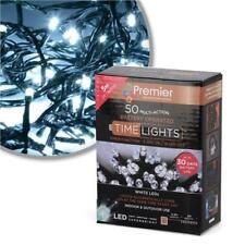 Premier 5m 50 Multi- Action Battery Operated LED Lights, White LB112382W