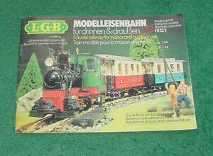 LGB Modelleisenbahn Booklet 0024 Model Railway Lehmann German English +