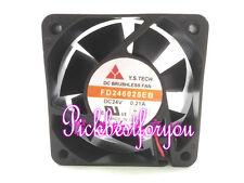 Y.S.TECH FD246025EB Double ball fan DC24V 0.21A 5200RPM 60*60*25mm 2pin #ME73 QL