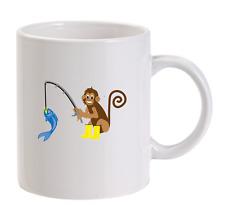 pesca Monkey PERSONALIZZATO Boccale BUFFO da uomo regalo ideale PESCATORE NATALE