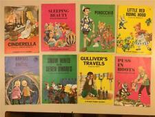 Lot 8 Vintage Giant Fairy Stories Children's Books Sleeping Beauty Cinderella