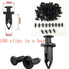 100pcs Clips ATV Retainer 8mm Push Pin Splash Guard Body Panel Fender fit Honda