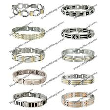 Sabona Men's Executive Silver Magnetic Bracelets - Choose your Style