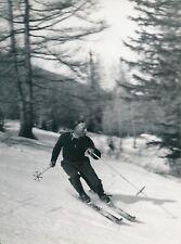 LANSLEBOURG c. 1938 - Sergent Chef Flammier à Ski Savoie - Div 11745