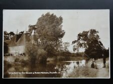 Kent: YALDING Kentish Oast Housess & River Medway MEN FISHING c1953 RP Postcard