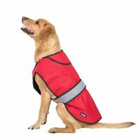 Trespass Trespaws Duke Red 2 in 1 Waterproof Dog Jacket with Inner Fleece Large