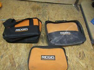 3 - RIDGID - CANVAS TOOL BAGS  (lot DR)