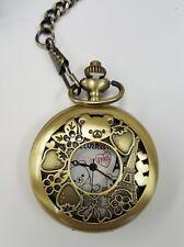 NEW San-X Rilakkuma Paris Strawberry Gold Pocket Watch SS8112 US Seller