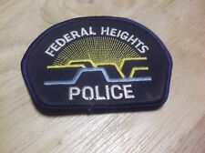 CR8) Federal Heights Colorado Police Patch