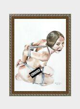 aquarelle watercolor A4 nude female drawing originale nu women woman girl new