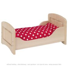 Dolls Bed Wood Natural 51701 Goki Beech Wood Very Sturdy - Disected