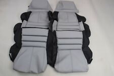Custom Made 1989-1993 C4 Corvette Real Leather Seat Covers Sport Seats BlackGrey