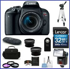 Canon EOS Rebel T7i DSLR Camera w/ 18-55mm IS STM Lens 32GB Bundle