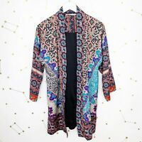Soft Surroundings Jacket Sz Medium Colorful Geometric Print Lotus Topper Quilted