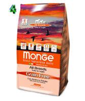 Monge Grain Free Anatra e Patate 12 kg Per Cani