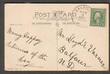 1924 Best Wishes post card to Lloyd E Varner Balfour ND North Dakota in-city