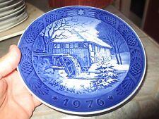 1976 Royal Copenhagen Denmark Vibaek Water Mill Christmas Plate