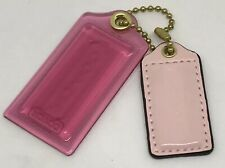 COACH Fob Pink Clear Plastic Patent Leather w/Gold Hardware Charm Tags NWOT