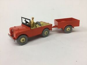 Dinky Orange Land Rover With Trailer(repaint)