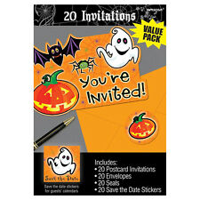 20 Happy Halloween Scared Silly Party Invitations plus Envelopes