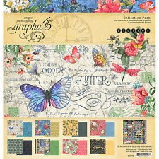 Flutter Collection Pack 12x12 Scrapbooking Kit Graphic 45 4501776 New