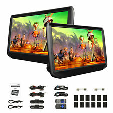 "2020 2x 11.6"" HD 1920*1080 Screen Car Headrest TV Monitor DVD/USB/SD/HDMI Player"