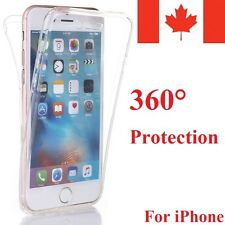 Shockproof Rubber Clear Full 360 Protective Case Cover for Apple Phone