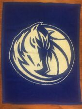 Biederlack Blanket - Dallas Mavericks - Blue Horse Basketball - Small Baby Lap