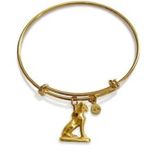 Egyptian Bastet Charm Flexible Bracelet - Museum Store Collection