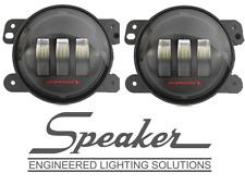 """JW Speaker Model 6145 J2 LED 4"""" Fog Lights - Black Bezel 07-18 Jeep Wrangler JK"""