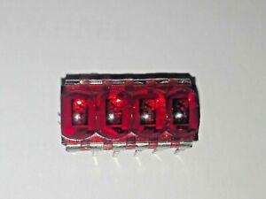 1 x HP5082-7414 4-Digit 7-Segment Original HP Mini Bubble Led Display Red