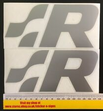 2x VW Racing  Logo Silver Sticker, Sill, Skirt, Polo GTI Volkswagen R32 Lupo
