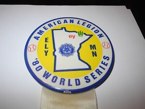 1983 Baseball Pin Coin Fargo ND American Legion World Series Booster Pinback