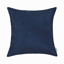 Navy Blue Cushion Covers Pillow Case Car Super Soft Faux Suede Sofa 20x20 Inches