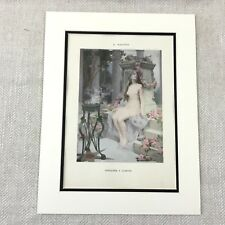1898 Print Nude Girl Painting Romantic Ernest Martens Painting French Art