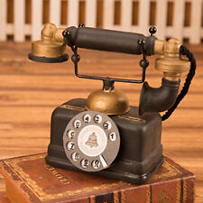 Antique Home Telephone Retro Vintage Old Fashioned Home Dial Phone 7111-14