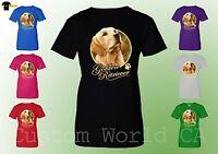 Women T-Shirt - Golden Retriever Dog Image Puppies Very Cute Dogs New Ladies Tee