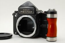 N MINT Asahi Pentax 6x7 67 Medium Format Camera Mirror Up w/ Wood Grip JP #Z269